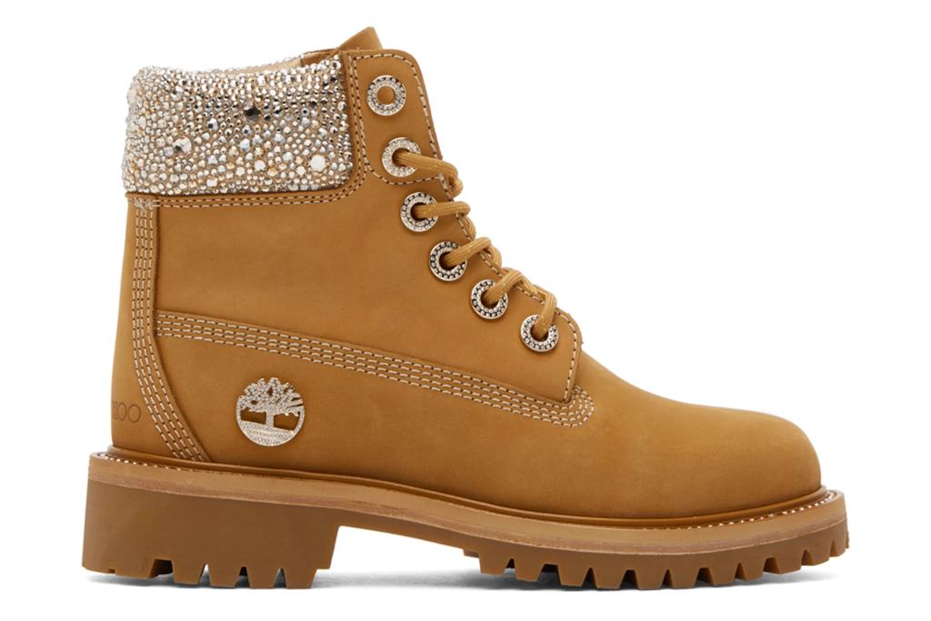 jimmy choo, woodland, boots, crystal, shine