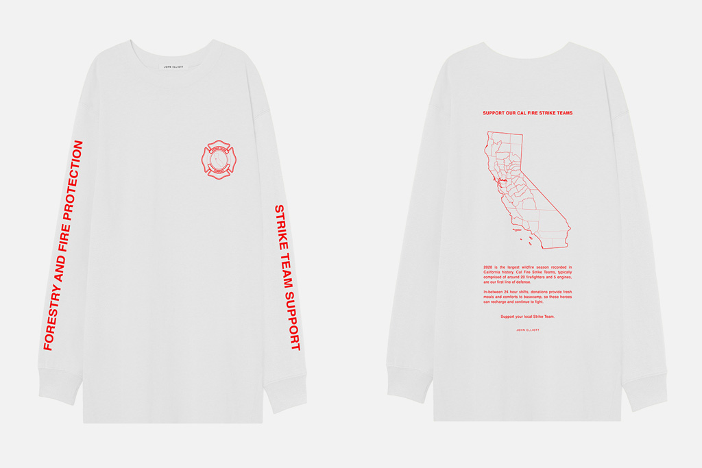 John Elliott Made-in-LA Fire Relief tees