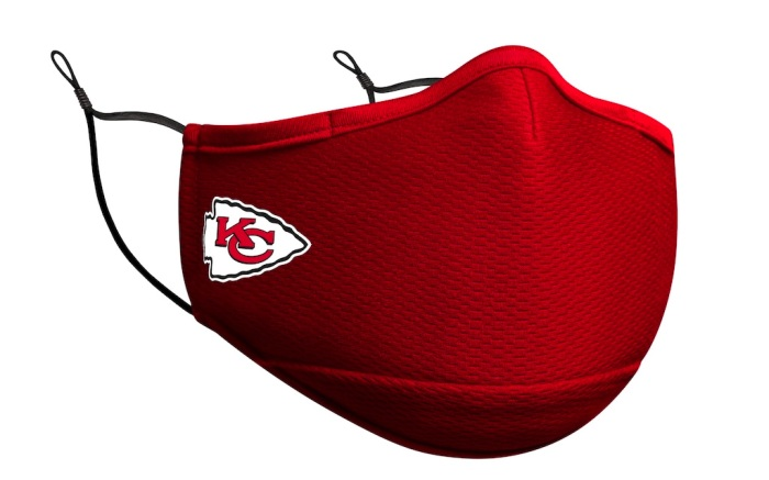 new era, face mask, face covering, nfl, sports, kansas city chiefs