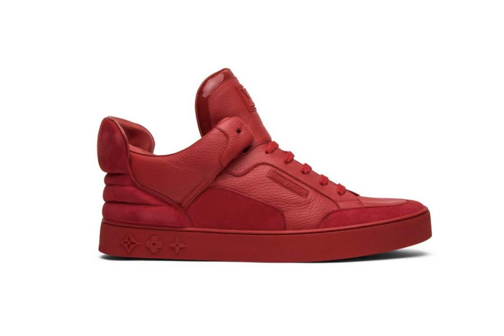louis vuitton don, kanye west sneaker, red louis vuitton sneaker