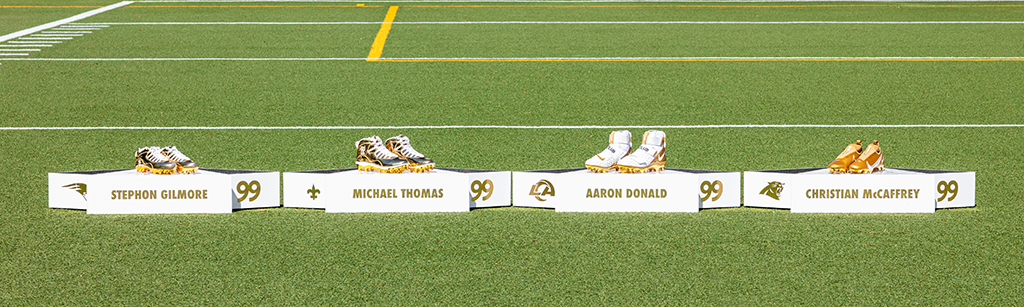Madden 99 Club Nike Jordan Gold Cleats