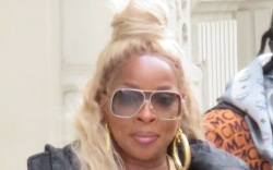 mary j. blige, style, boots, mcm,