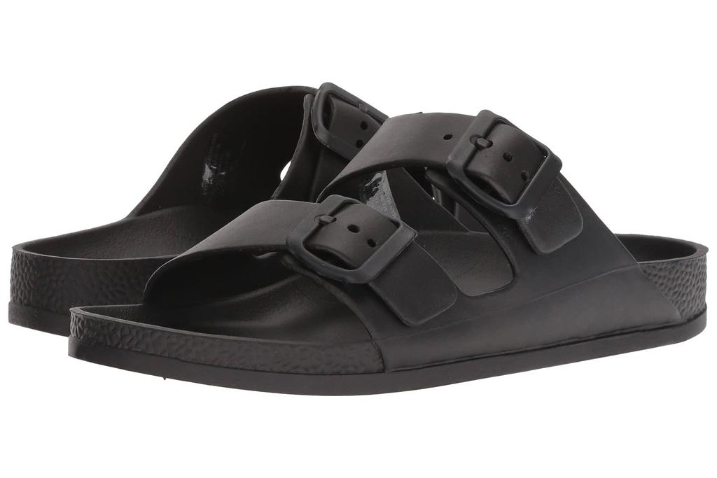 black sandals, double strap, mia