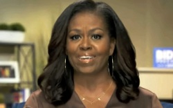 michelle obama, necklace, vote, vote necklace