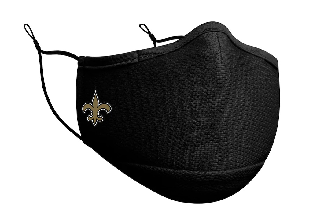 new era, face mask, face covering, nfl, sports, new orleans saints