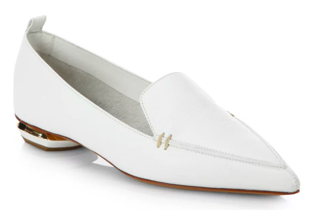 nicholas kirkwood, loafers, white, silver