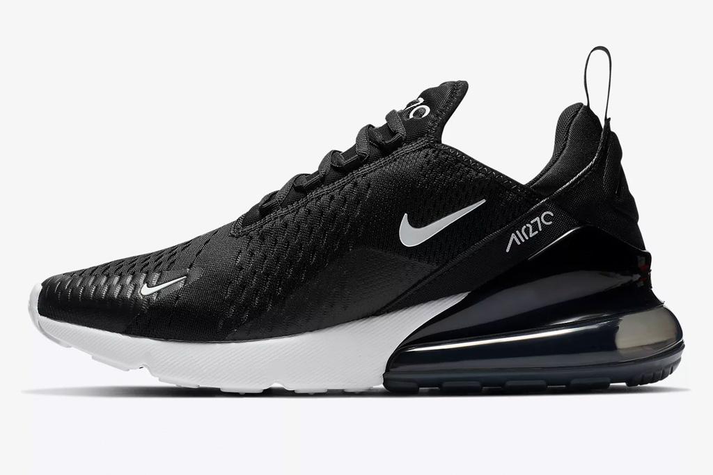 sneakers, black, white, workout, nike
