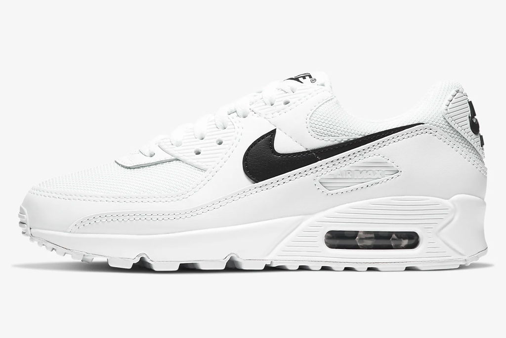 black, white, sneakers, nike