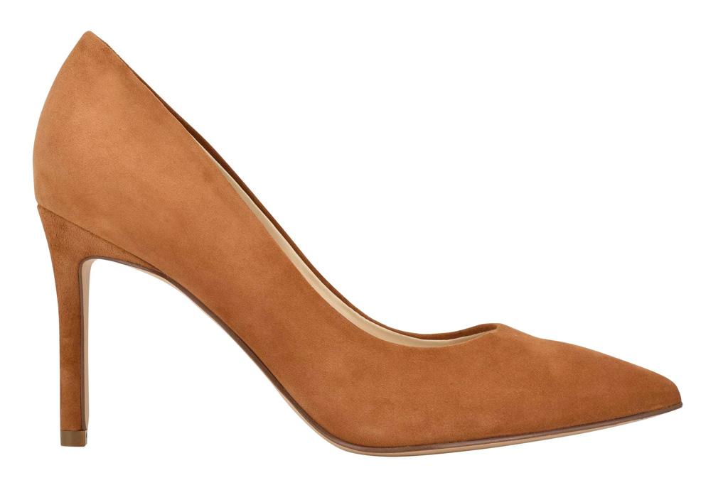 brown suede, pumps, suede, heels, nine west
