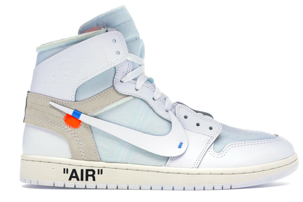 off-white, air jordan, sneakers, high top, jordan brand, white, 1