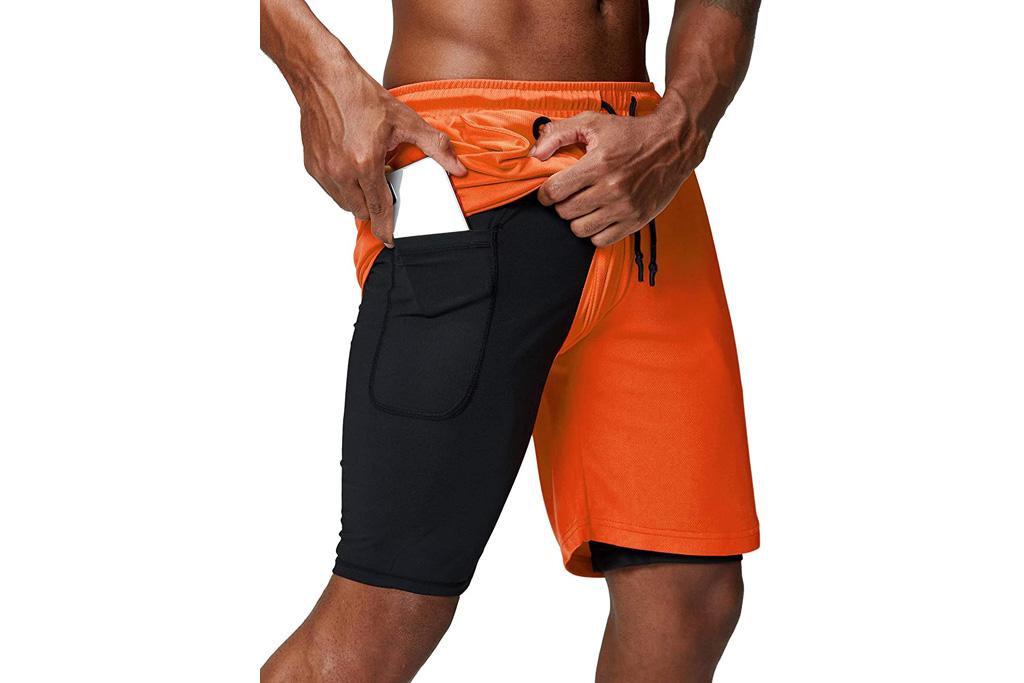 shorts, workout shorts, mens, training, pinkbomb