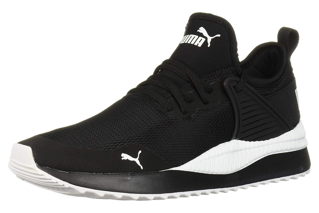 sneakers, black, white, workout, puma