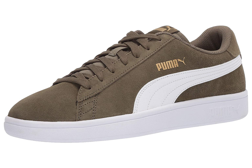 green, sneakers, white, suede, puma