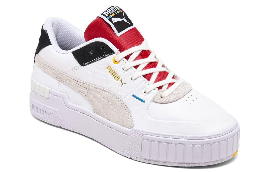 sneakers, white, red, black, puma
