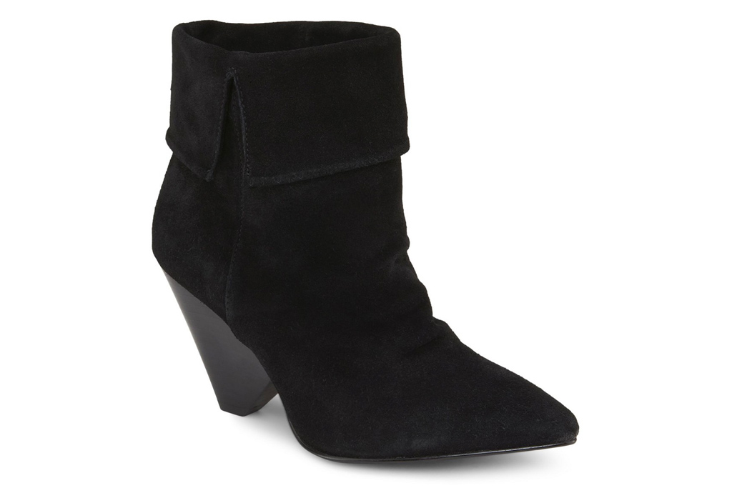 black boots, booties, cone heel, rebel wilson