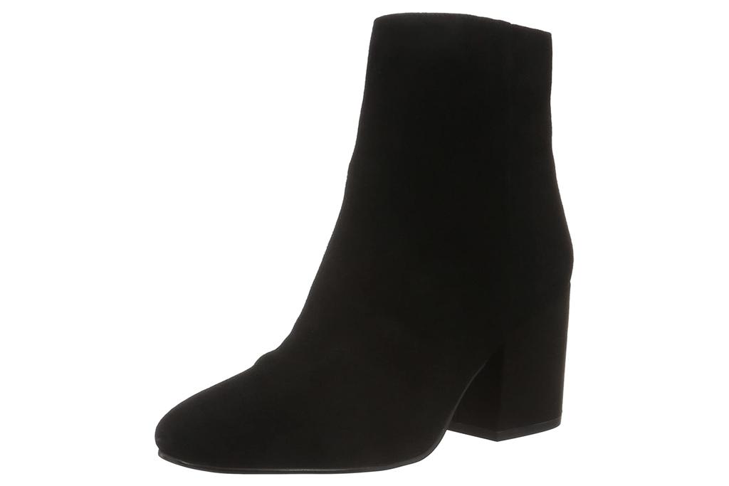black boots, booties, suede, block heel, sam edelman