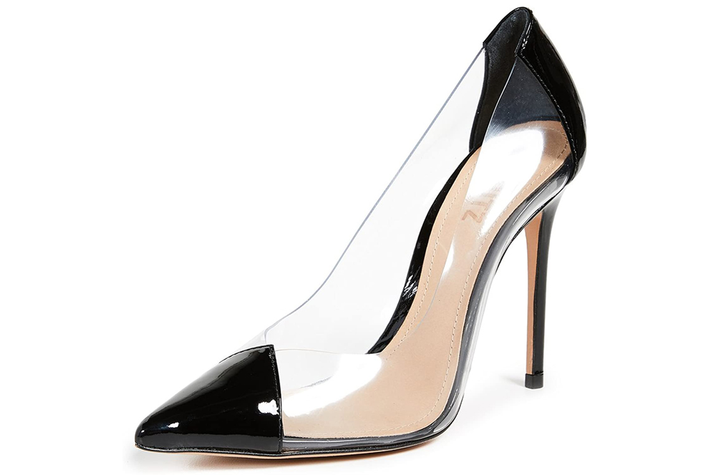pvc pumps, heels, studded, see through, schutz