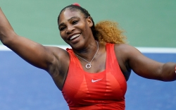 serena williams, us open, red, nike,