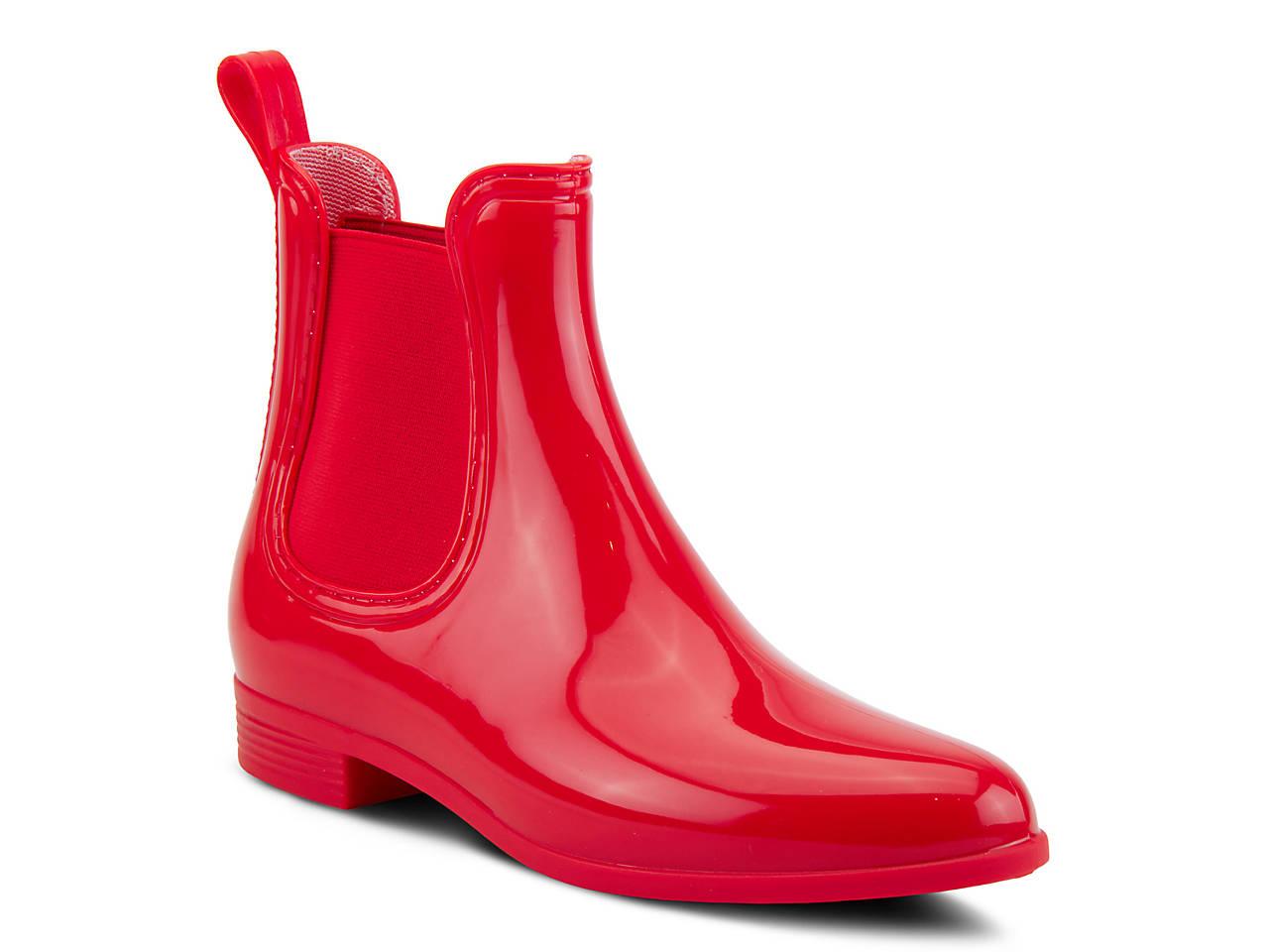 shiny rain boots