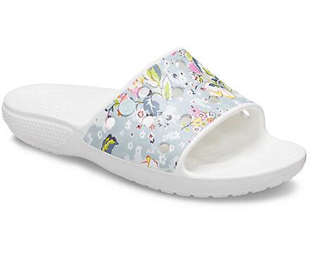 slide, crocs