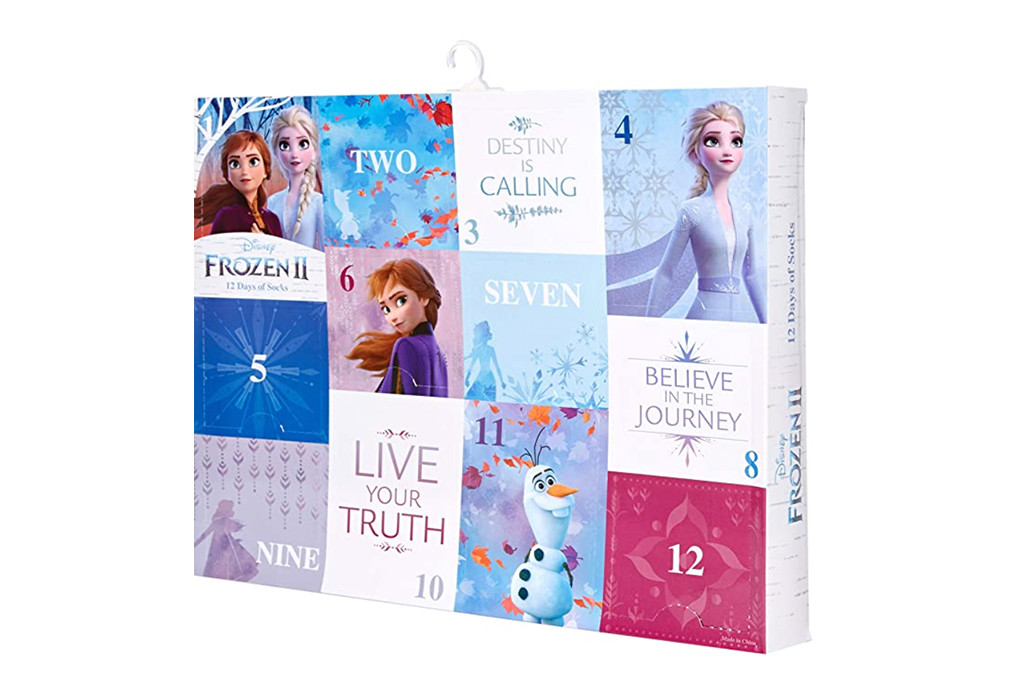 frozen sock advent calendar, best advent sock calendar, kids socks