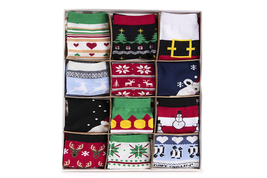 muk luks calendar, sock advent calendar, women's sock calendar