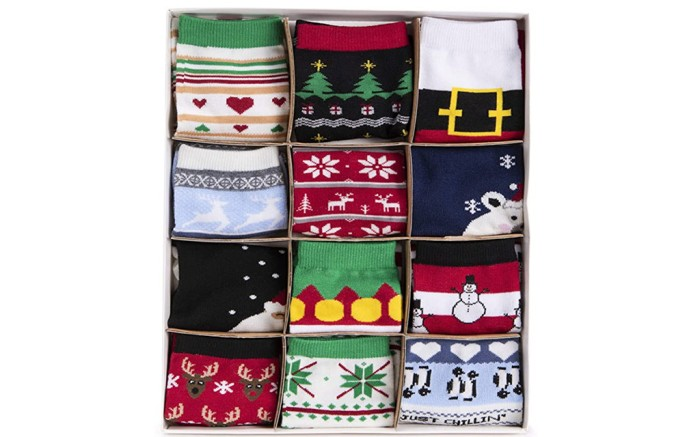 muk luks calendar, sock advent calendar, women's sock calendar