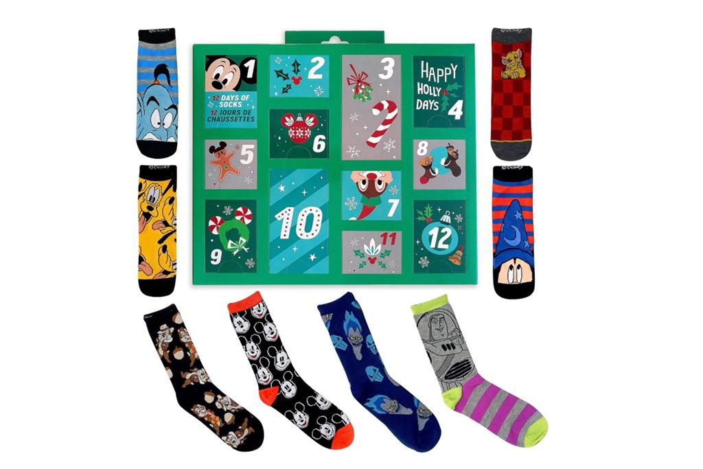 disney sock calendar, holiday socks, sock advent calendar