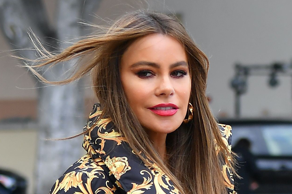 Sofia Vergara Styles Her Walmart Flare Jeans for Fall With a Plunging Top & Booties