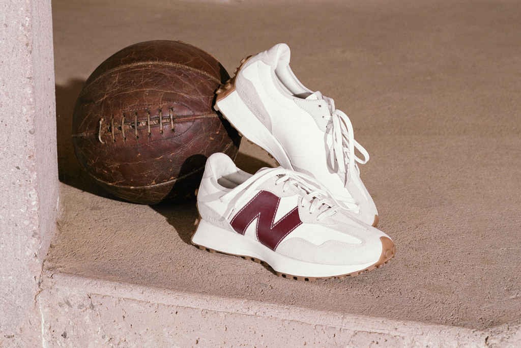 Staud x New Balance 327, staud x new balance fall '20, staud x new balance