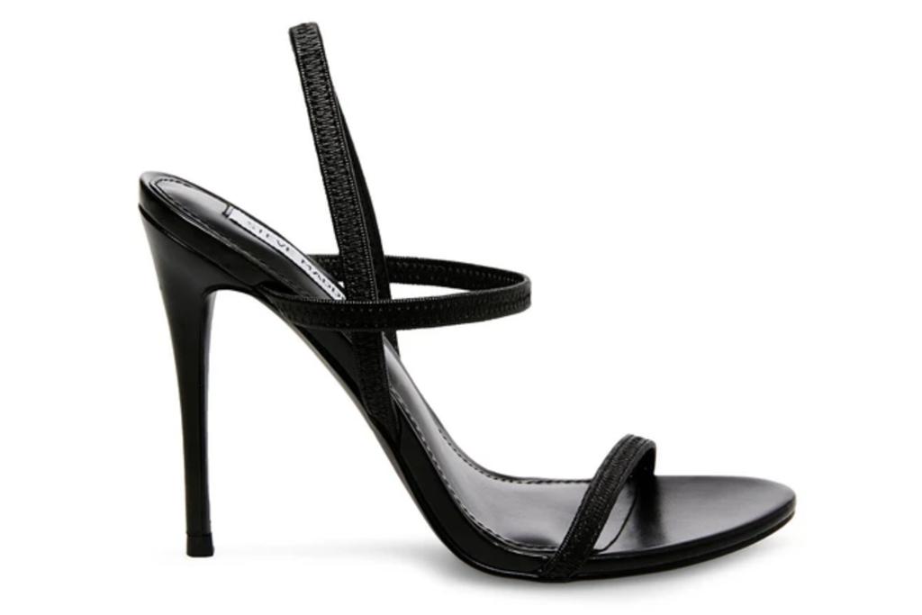 sandals, black, strappy, stiletto, steve madden