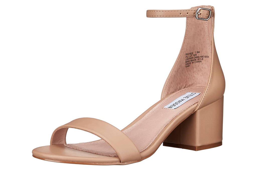 nude sandals, sandals, block heel, steve madden