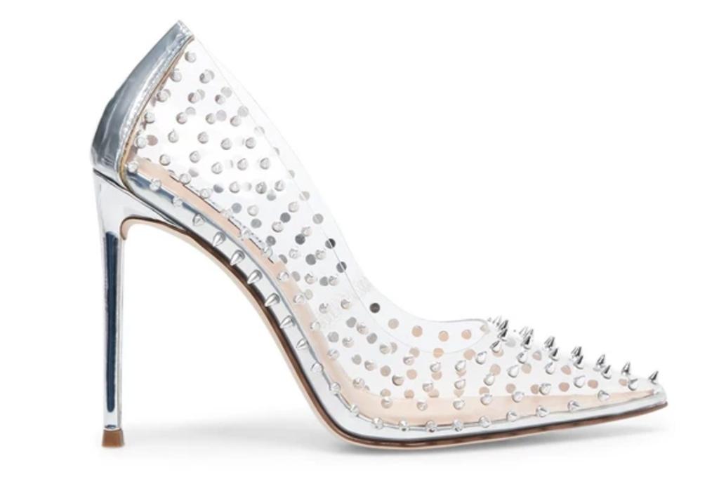 pvc pumps, heels, studded, see through, steve madden