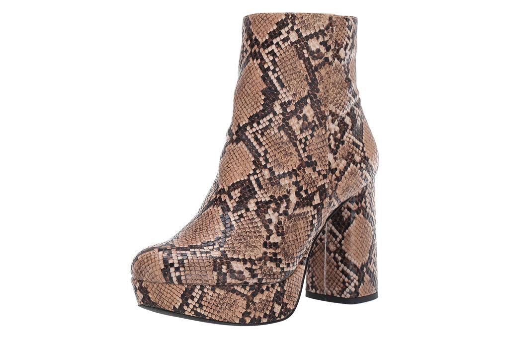 snakeskin, python, boots, booties, platform, heel, steve madden