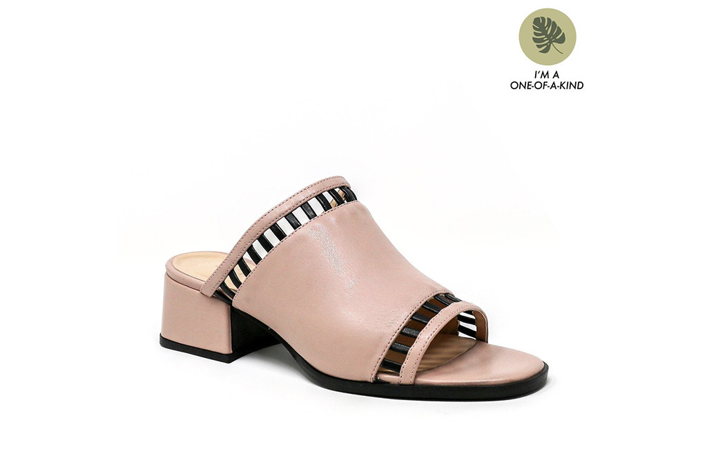 Sylven New York, Sage Blush Vegan Nappa Leather Sandal, the reboot