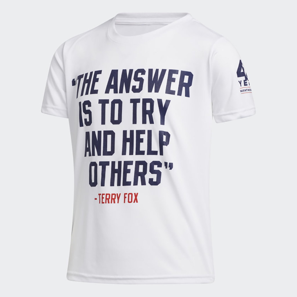 Adidas Terry Fox Quote T-Shirt