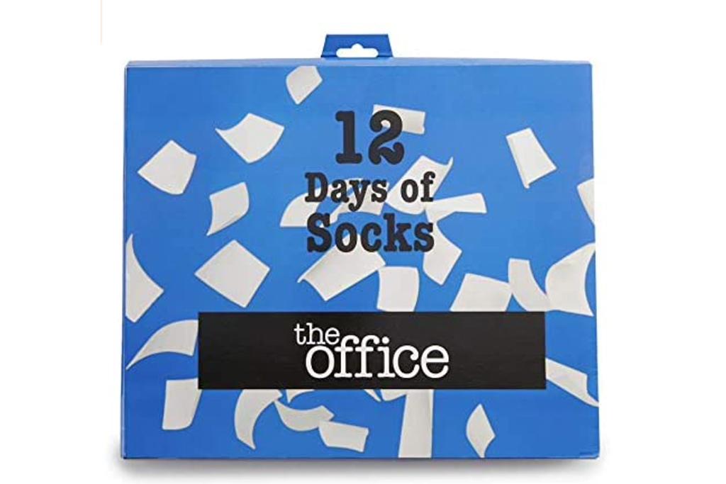 sock advent calendar, the office socks, holiday socks