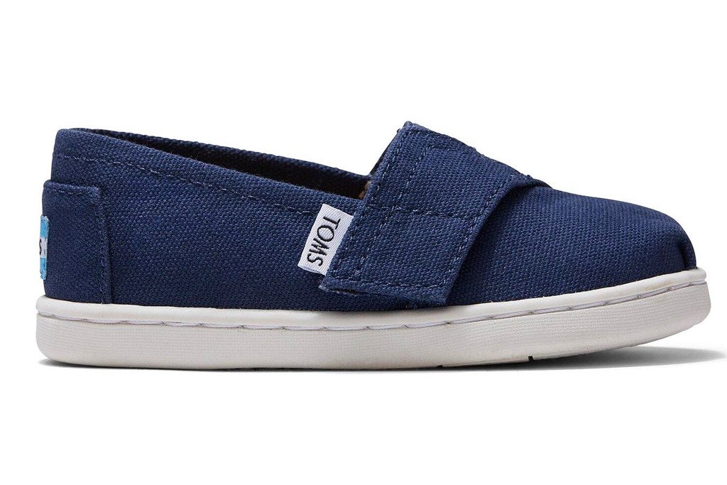 kids shoes, slip on, blue, laceless, toms