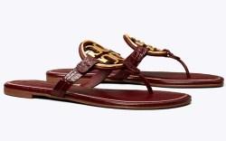 tory burch, flip flops, miller, sandals,