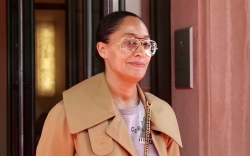 tracee ellis ross, style, jacket, boots