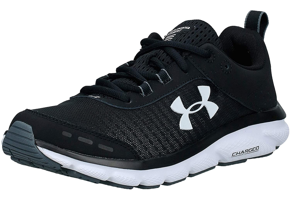 under armour, running shoes, black, sneakers