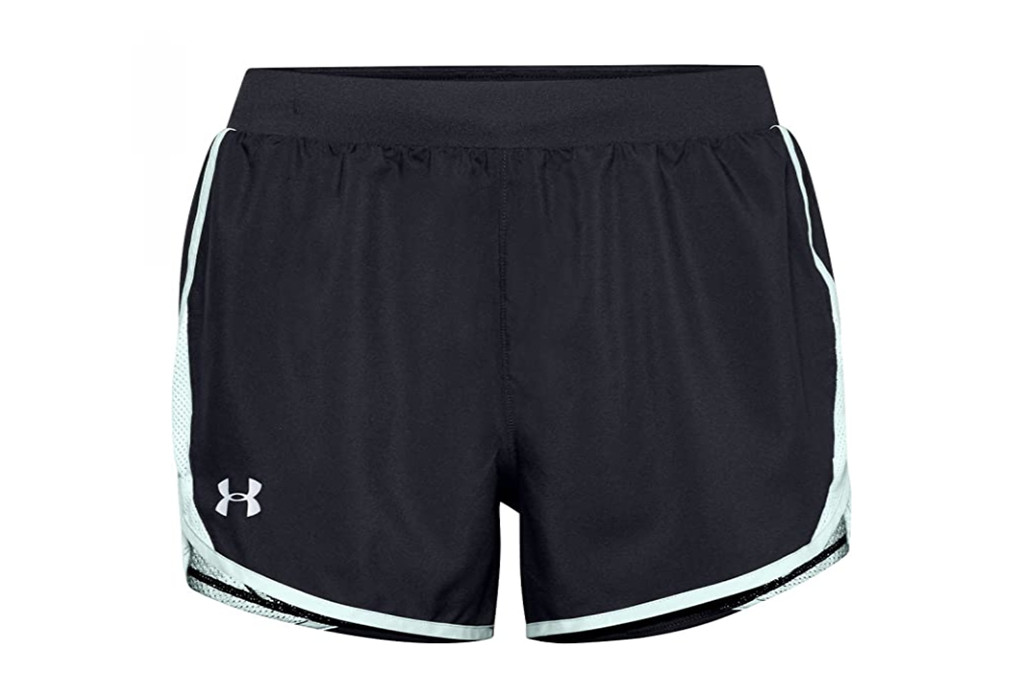 Under Armour Fly By 2.0 Running Shorts, best running shorts for women, womens running shorts