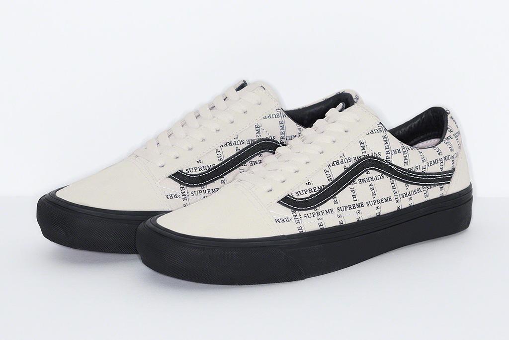 supreme, vans, sneakers, 2020, fall 20, old skool pro, half cab pro, blue, white, black