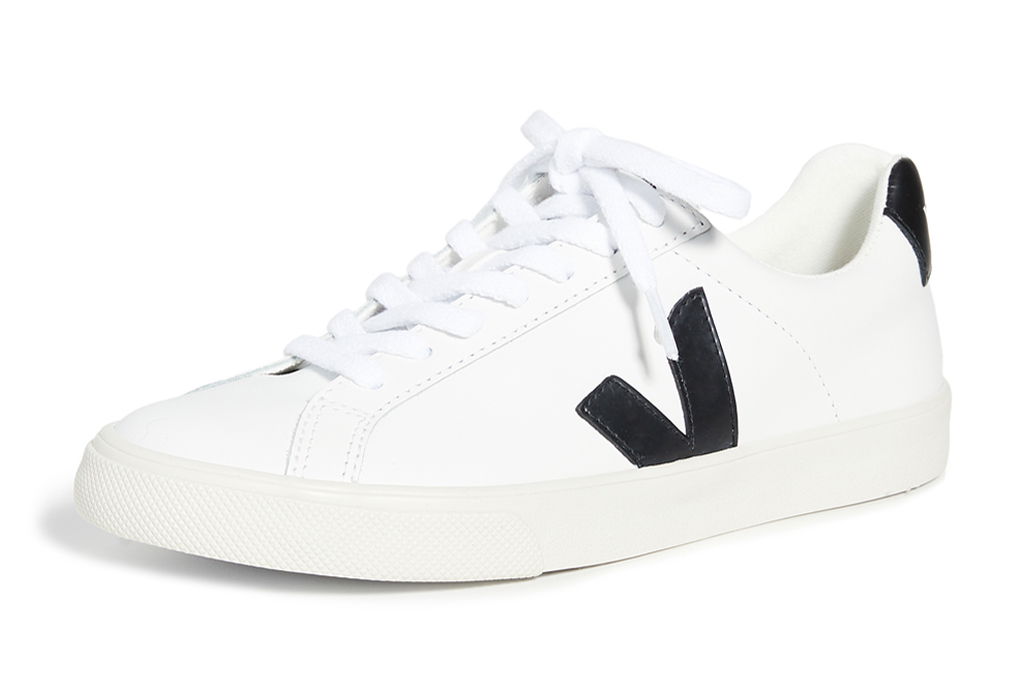 sneakers, black, white, lace-up, veja