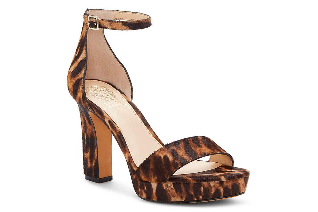 cheetah sandals, heels, platform, shoes, vince camuto