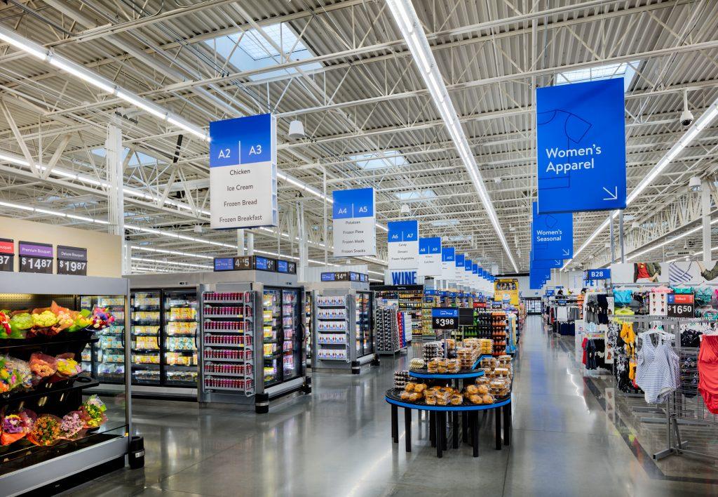 Walmart store redesign