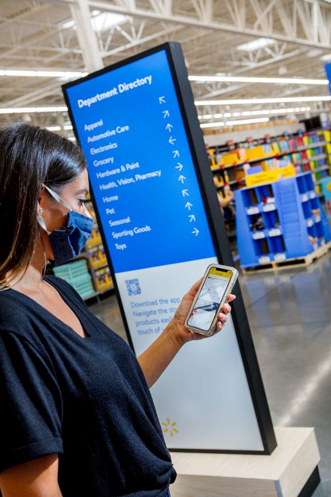 Walmart customer, Walmart app, Walmart store directory