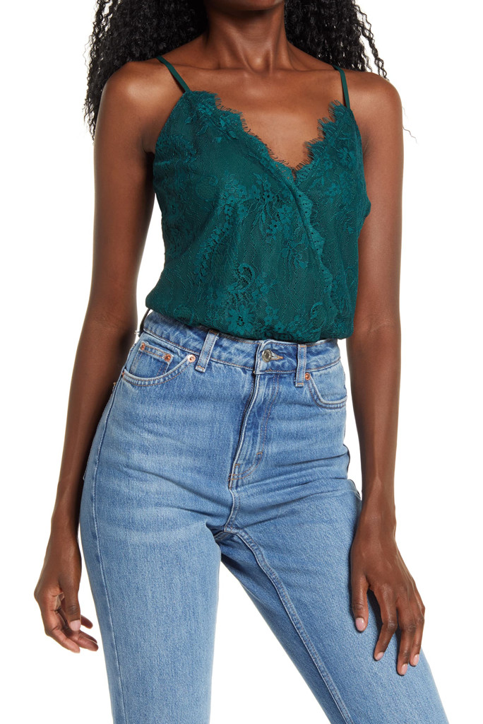 natalie lace cami body suit, wayf x bff, nordstrom tank top