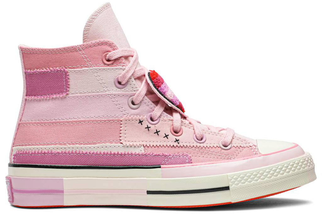 millie bobby brown converse, converse, pink high tops