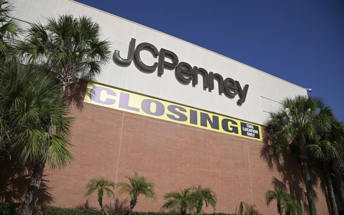 A store closing sign is viewed outside a JCPenney store that is slated to be closed down, Thursday, Sept. 3, 2020, in Orlando, Fla. Many schools and businesses have reopened during the new coronavirus pandemic. (Phelan M. Ebenhack via AP)